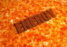De Sinaasappel van de energietekst Royalty-vrije Stock Fotografie