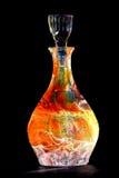 De Sinaasappel van de Fles van de Karaf van het Glas van de straathond Royalty-vrije Stock Fotografie