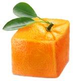De sinaasappel van de kubus. stock fotografie