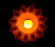 De sinaasappel van de lamp Stock Afbeelding