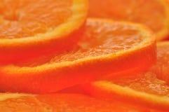 De sinaasappel van de plak Stock Foto's