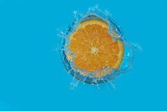 De sinaasappel van de plons Royalty-vrije Stock Afbeelding