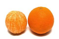 De Sinaasappel van de schil stock fotografie
