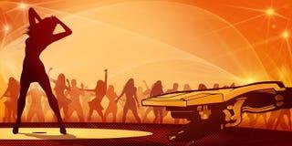 De Sinaasappel van de Vlieger van de partij Royalty-vrije Stock Afbeelding