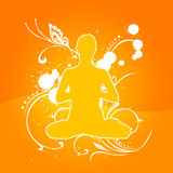 De Sinaasappel van de yoga [02] Stock Foto's