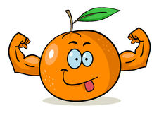 De sinaasappel van het beeldverhaal royalty-vrije illustratie