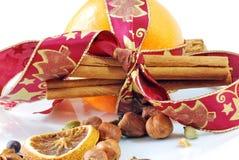 De Sinaasappel van Kerstmis Stock Foto's
