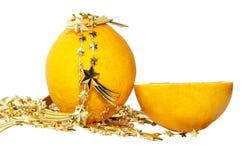 De sinaasappel van Kerstmis Royalty-vrije Stock Foto's