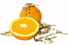 De sinaasappel van Kerstmis Royalty-vrije Stock Afbeeldingen