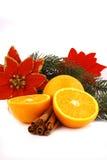 De sinaasappel van Kerstmis ballsand Stock Foto