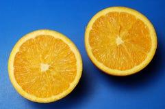 De sinaasappel van Splitted Royalty-vrije Stock Afbeeldingen