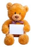 De sinaasappel van Teddy draagt Stock Foto