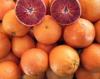 De sinaasappelachtergrond van het bloed Stock Afbeelding