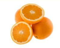 De sinaasappelen van het geheel en van de besnoeiing royalty-vrije stock fotografie