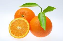 De sinaasappelen van Valencia Stock Foto's