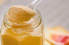 De sinaasappelgestremde melk van het close-upbloed Royalty-vrije Stock Foto