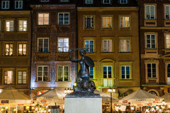 De Sirene van Warshau - symbool van de hoofdstad van Polen Royalty-vrije Stock Foto