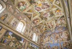 De Sistine-Kapel Stock Foto