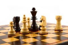 De situatie van het schaak Stock Foto