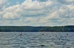 De Siwiejący Jezioro Obrazy Stock