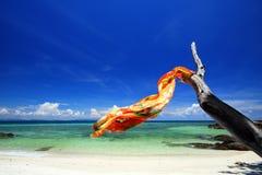 De sjaal en het overzees van de Batik van de zijde Royalty-vrije Stock Afbeeldingen