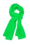 De sjaal groene die zijde, in een mooie knoop wordt gebonden Royalty-vrije Stock Foto's