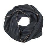 De sjaal van de zijde De zwarte bijbehorende zijdesjaal nam toe Stock Afbeelding