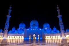 De sjeik zayed moskee in Abu Dhabi, de V.A.E, het Midden-Oosten Royalty-vrije Stock Afbeeldingen
