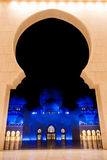 De sjeik zayed moskee in Abu Dhabi, de V.A.E, het Midden-Oosten Royalty-vrije Stock Foto