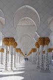 De sjeik zayed moskee, Abu Dhabi, de V.A.E, het Midden-Oosten Royalty-vrije Stock Foto