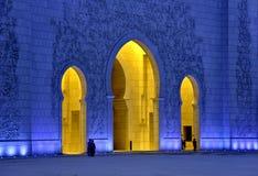 De sjeik zayed moskee de V.A.E Royalty-vrije Stock Foto