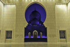 De sjeik zayed moskee de V.A.E Stock Afbeeldingen
