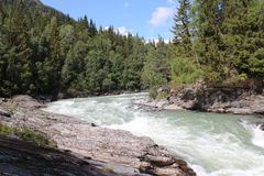 De Sjoa-rivier dichtbij het Sjoa-kajakkamp Royalty-vrije Stock Fotografie