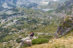 De sju Rila sjöarna, Bulgarien Royaltyfria Bilder