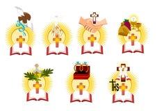 De sju sakramenten vektor illustrationer