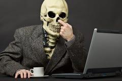 De skeletoogsten in een neus stock afbeelding