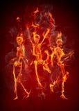 De skeletten van de brand Royalty-vrije Stock Afbeelding