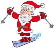 De skiånde Kerstman Stock Afbeelding