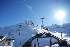 Skiën-lift Stock Fotografie