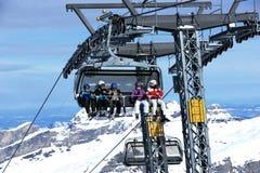 Skiën-lift Royalty-vrije Stock Foto