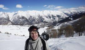 De skiër van Exausted royalty-vrije stock foto