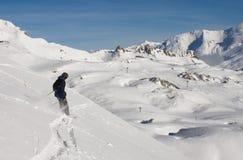 De skiër van Freeride Royalty-vrije Stock Fotografie