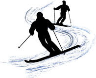 De Skiërs van de sneeuw/eps stock foto's