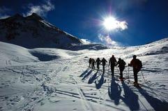 De ski van Backcountry Stock Foto's