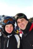 De ski van de familie royalty-vrije stock foto