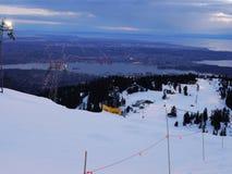 De ski van de nacht in Vancouver Stock Fotografie