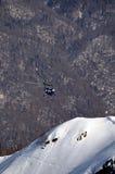 De ski van Heli in Krasnaya Polyana. Stock Fotografie