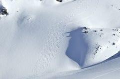 De ski zet een gletsjer aan Stock Afbeeldingen