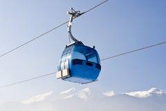 De skicabine van de lift Stock Foto's