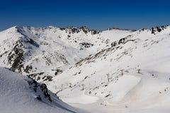De skigebied van Remarkables Stock Afbeeldingen